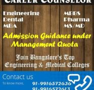 MBA , MTech , M Arch, MCA at Bangalore, Admission for 2013, in M G Road for sale  India