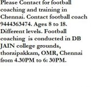 Football coaching and training in chennai for sale  Thoraipakkam