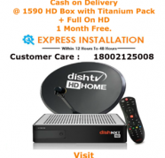 Dish TV HD Box Titanium Pack Full On HD 1 Month free, used for sale  India
