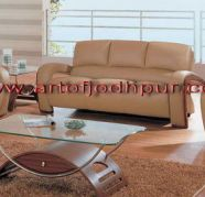 latest leather sofa set designs With Center Table for sale  India