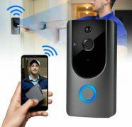 Smart Wireless WiFi Doorbell IR Video Camera PIR Intercom for sale  Chattarpur