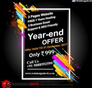 Cheap 3 Pages Website Design Rs999 Year End Offer for sale  India