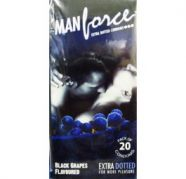 Manforce Black Grapes Extra Dotted Condoms (Pack of 20), used for sale  India